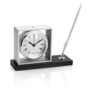 Set orologio da tavolo metallo c penna roller - Ottaviani orologio da tavolo ...